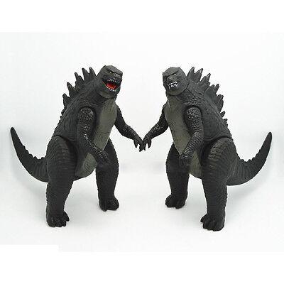 Set of 2pcs New 2014 Movie Godzilla Monster Action Figures Toys 17cm 6.5
