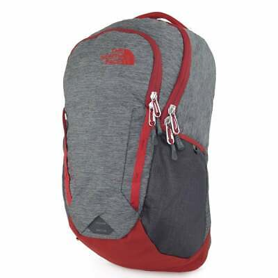 NORTH FACE Vault Backpack Dark Grey Heather/ Cardinal Red T9