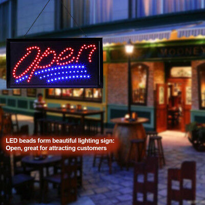 Flashing Open Led Sign Coffee Barber Shop Onoff Switch Neon Sign Display Light