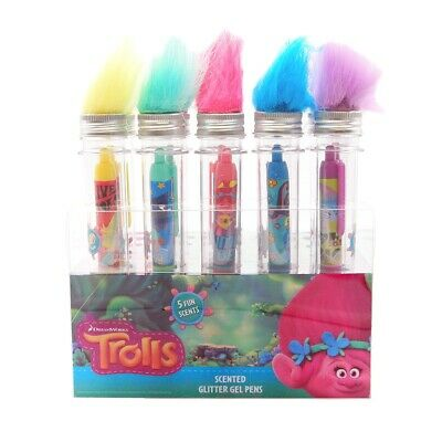 Scentco 5 Trolls Glitter Gel Smens Tubes Gourmet Scented Pens Toys Games Smelly](Scented Pens)