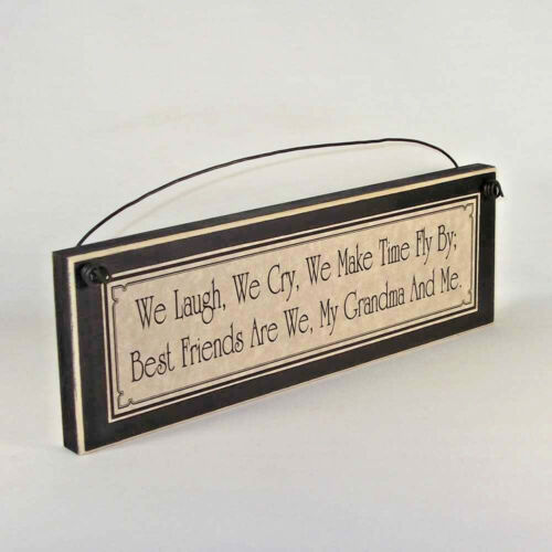 BEST FRIEND GRANDMA signs grandmother plaques gifts for grandparent Mother