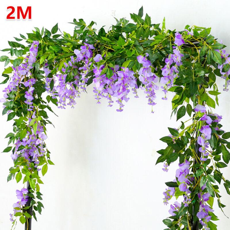 Kunstblumen Künstliche Girlande Efeugirlande Hängende Pflanzen Hochzeit Deko de