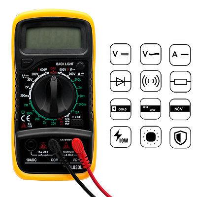 LCD Digital Multimeter Voltmeter AC&DC Voltage Tester Circuit Checker Buzzer NEW