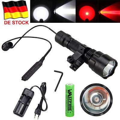Vastfire 8000LM C8 LED Flashlight Taschenlampe Hunt Fackel W / Picatinny Mount ()