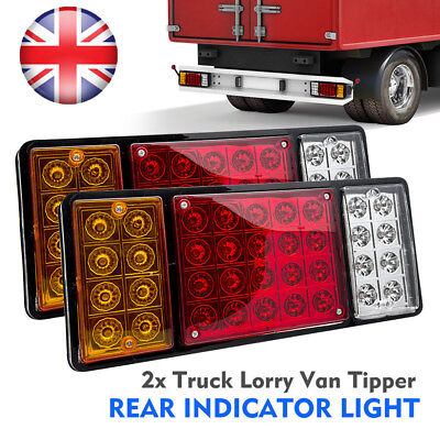 2X 12V Rear Stop 36 LED Lights Tail Brake Indicator Lamp Trailer Truck Van Light