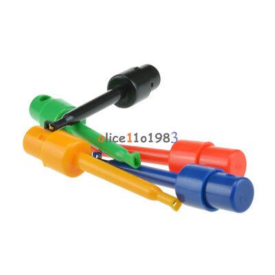 10pcs Large Size Round Single Hook Clip Test Probe For Electronic Testing