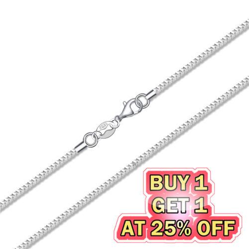 Jewellery - 925 Sterling Silver Box Chain Necklace w/ Lobster Lock Men's Women's 16-24 inch