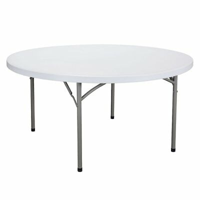 60 Inch Round Folding Utility Table White