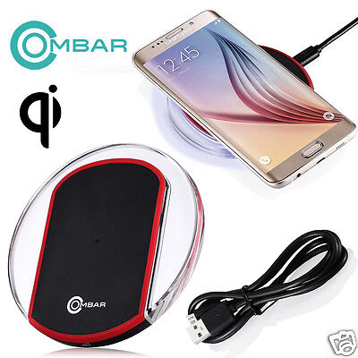 Qi Wireless Fast Charging Pad Mat Charger for Samsung Galaxy S6 S7 Edge Nexus 6