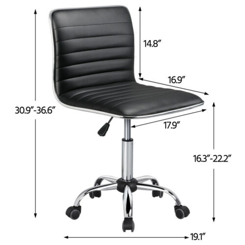 Low Desk Task Wheels Black
