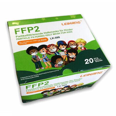 20x Kinder FFP2 Maske LEIKANG LK-088, Einzelblister, EN149, CE0370 zertifiziert