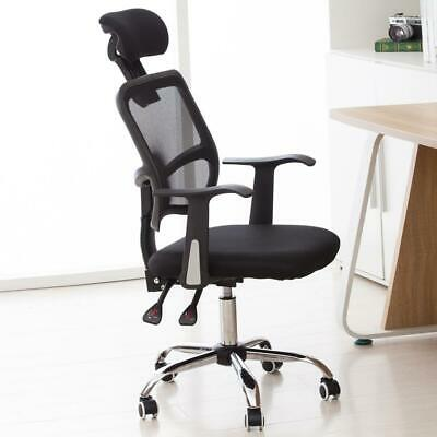 Mesh Chair Ergonomic Executive Swivel Office Chair Computer Desk Black