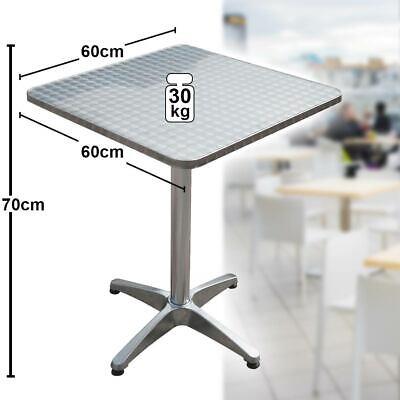 Bistro side table square aluminum frame steel plate folding garden furniture