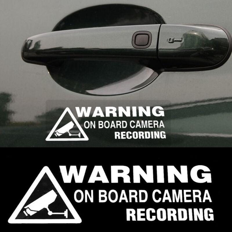 Warning On Board Camera Recording Car Window Truck Auto Vinyl Sticker 2018 Gift