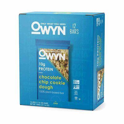 2 Boxes_Gluten Free-Vegan Protein Bar_Owyn Bar Chocolate Chip Cookie Dough-24 CT Gluten Free Cookie Dough