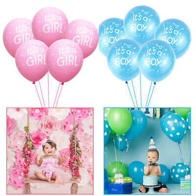 Diy Baby Shower Decorations For Girl (Creative It's a Boy/Girl Latex Balloons For Baby Shower Birthday Party DIY)