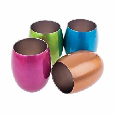 Double Wall Cup Insulated Water Tumblers Tumbler Tea Cups Set of 4