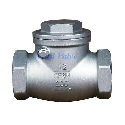 12 Inch Swing Check Valve Npt Stainless Steel Non-return Water Oil Gas