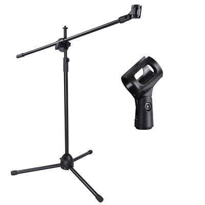 - New Microphone Boom Stand Mic Clip Holder Studio Arm Adjustable Foldable Tripod