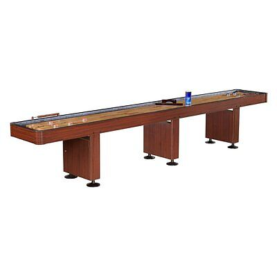 Hathaway 14 ft. Challenger Shuffleboard Table, Dark Cherry