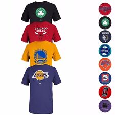 NBA Various Team Color Primary Logo Wordmark Graphic T-Shirt by Adidas Men's