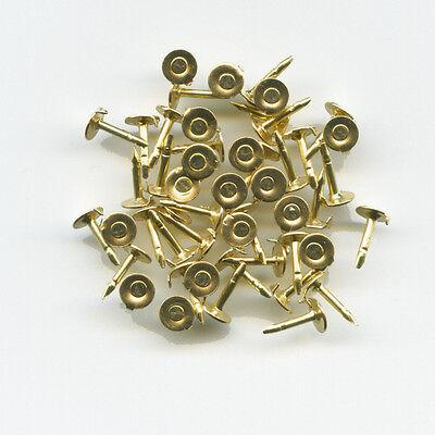 50 kleine neue goldene Pinnadeln - Ersatz für Metall Button und Pin Anstecker