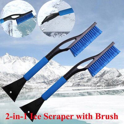 USA Ice Scraper with Brush for Car Windshield Snow Removal Frost Handle Shovel
