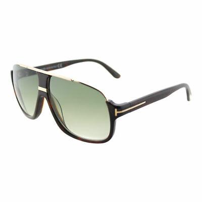 Tom Ford Eliott TF 335 56K Havana Plastic Sunglasses Green Gradient Lens