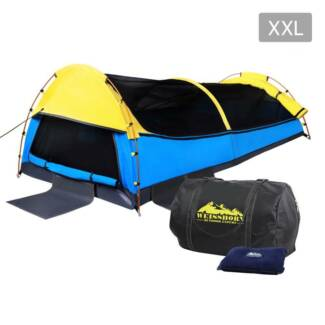 King Single Swag Camping Extra Large Deluxe Swags Canvas Tent Y