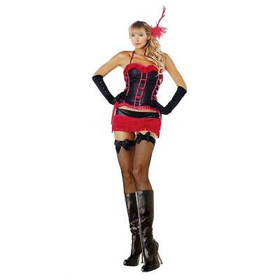 LEG AVENUE $134 BURLESQUE BEAUTY BLACK & RED HALLOWEEN COSTUME SET SZ S/M NWT](Burlesque Beauty Halloween Costume)