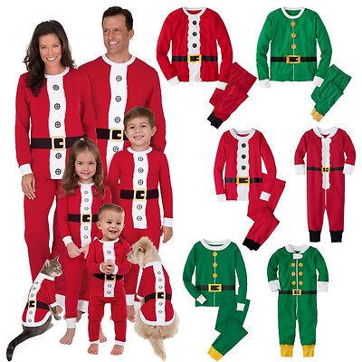Christmas Family Matching Santa Pajamas Set Adult Kids Xmas Sleepwear Nightwear