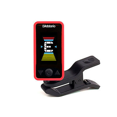 Planet Waves Eclipse Clip-On Chromatic Headstock Guitar Bass String Tuner Red