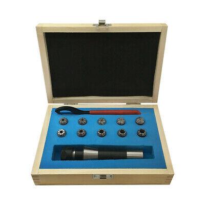 132-38 Er16 Spring Collet Chuck Set R8 Shank Cnc Milling Tool-set 10 Pcs