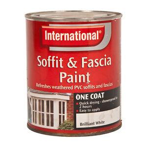 international soffit fascia paint brilliant white 750ml