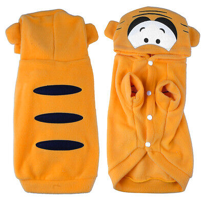 Cute Fancy Cat Dog Apparel Costume Pet Hoodie Clothes Coat Puppy Outfit Tiger - Tiger Cat Costume