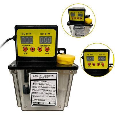 1l Lubricant Oil Pump Machine Dual Digital Display Automatic Electric Lube Oiler
