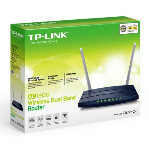 TP-LINK Archer C50 AC1200 Wireless-AC Dual-Band Router ARCHERC50