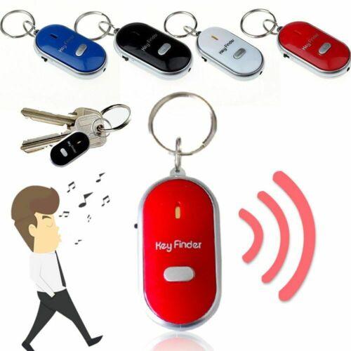4Pcs LED Anti-Lost Key Finder Locator Keychain Whistle Beep