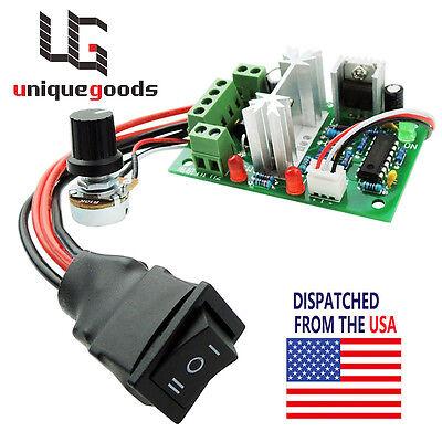 Dc 10-30v Motor Speed Controller Reversible Switch Pwm Adjustable Regulator 80w