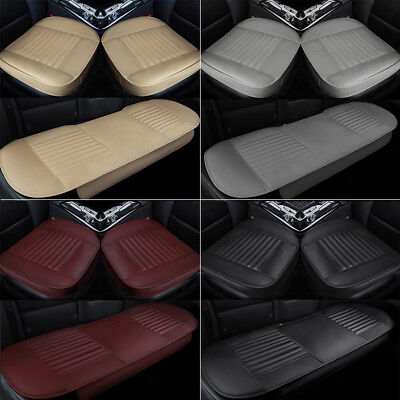 PU Leather Car Seat Cover Full Surround Front Rear Seat Mat Cushion Protector 3D ()