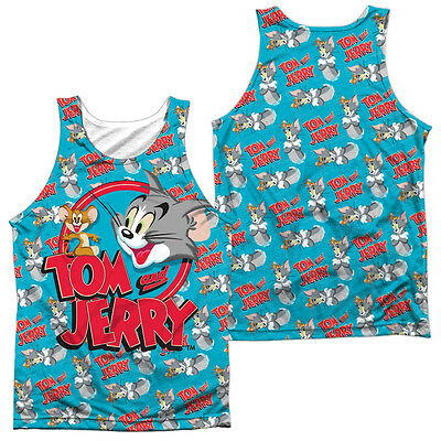 Tom And Jerry Double Trouble Mens Tank Top Sleeveless Tee Sm 3Xl