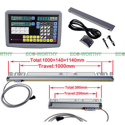 Digital Readout 2 Axis For Milling Lathe Machine With Precision Linear Scale Us