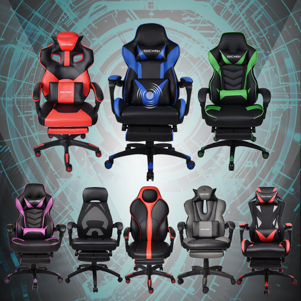 High Back Office Gaming Racing Chair Ergonomic Recliner Buck