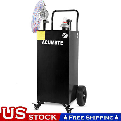35 Gallon Gas Fuel Diesel Caddy Transfer Tank Container With Rotary Pump