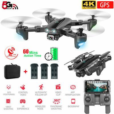 CSJ S167GPS Drone with Camera 4K 5G WIFI FPV Quadcopter 3 Batteries Handbag UK√