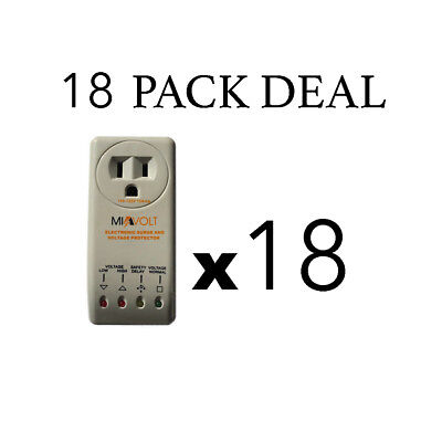 18 Pack New Refrigerator 1800 Watts Voltage Brownout Appliance Surge Protector