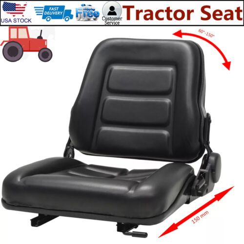 Forklift Seat Tractor Seat Adjustable Backrest Replacement Bucket Seat Seater