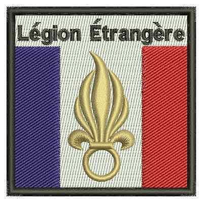 Fremdenlegion 2, Légion Étrangère Wappen gestickt, Aufnäher, Aufbügler, gestickt