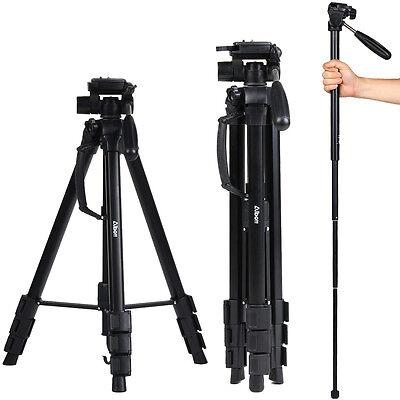54 bis 178CM verstellbar Fotostativ Panoramakopf ALU Video Kamerastativ Tasche