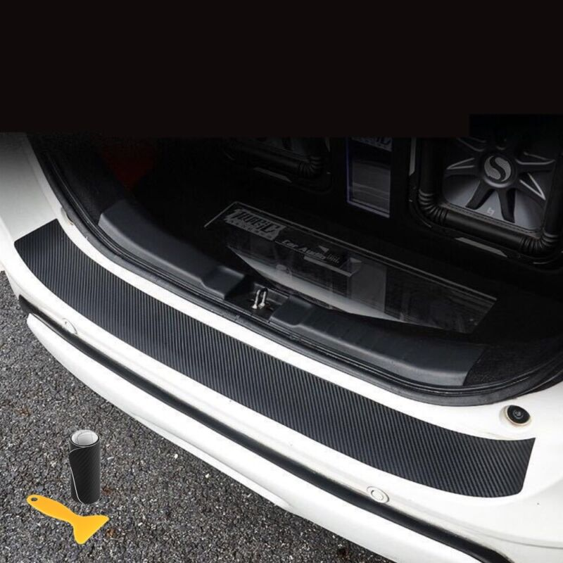 1x Carbon Fiber Auto Car Rear Bumper Protector Corner Trim Sticker Accessory PVC